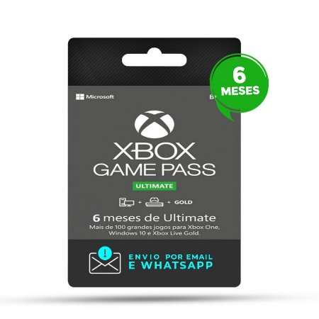 Xbox Game Pass Ultimate 6 Meses - Digital