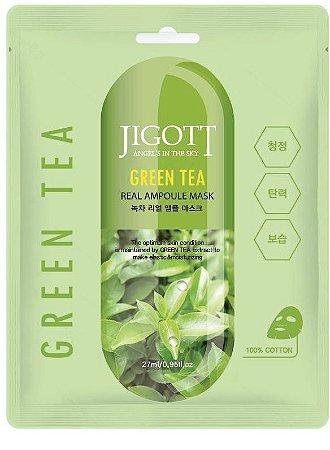 Máscara Facial Hidratante Jigott Green Tea Real Ampoule Mask - SISI