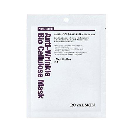 Máscara Facial Anti-Idade  Bio Celulose - Royal Skin Prime Edition Anti-Wrinkle