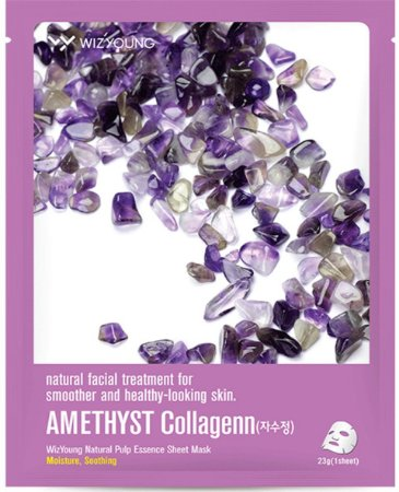 Máscara Facial Hidratante Wizyoung Amethyst Collagen Essence Mask Pack - SISI