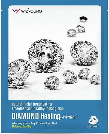 Máscara Facial Hidratante Wizyoung Diamond Collagen Essence Mask Pack - SISI