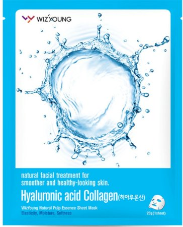Máscara Facial Hidratante SISI - Wizyoung Hyaluronic Acid Collagen Essence Mask Pack