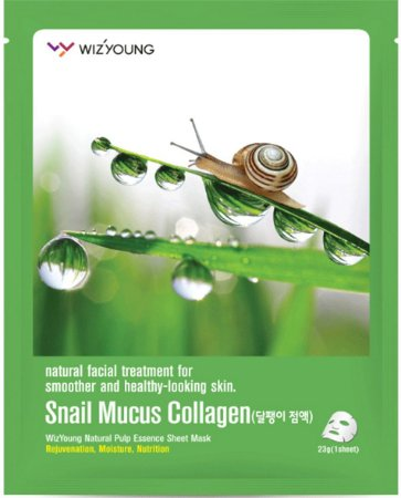 Máscara Facial Antissinais SISI - Wizyoung Snail Mucus Collagen Essence Mask Pack