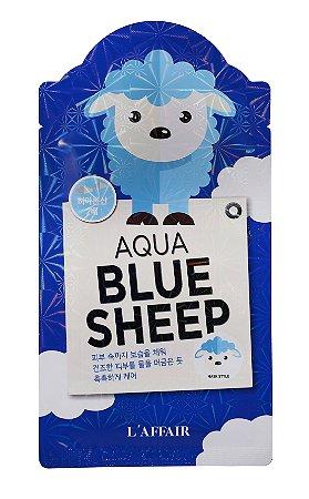 Máscara facial com estampa de Ovelha - L'affaier Blue Sheep