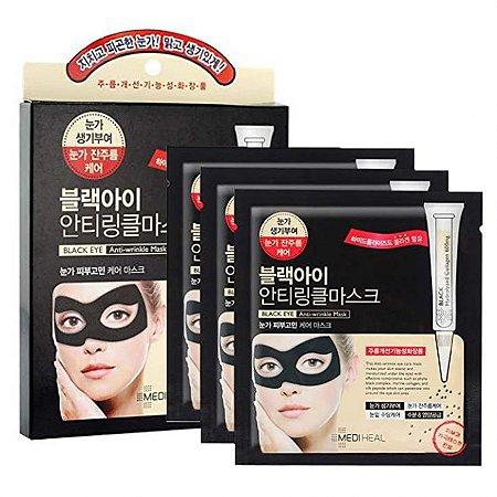 Kit de 5 máscaras antissinais para região dos olhos Mediheal Black eye