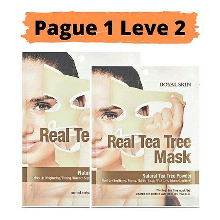 PAGUE 1 LEVE 2 Máscara facial hidratante - Royal skin real tea tree