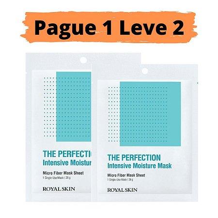 PAGUE 1 LEVE 2 Máscara facial micro fibra - Royal skin the perfection moisture