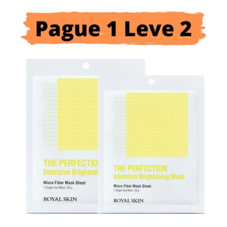 PAGUE 1 LEVE 2 Máscara facial micro fibra - Royal skin the perfection brightening