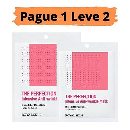 PAGUE 1 LEVE 2 Máscara facial micro fibra - Royal skin the perfection anti wrinkle