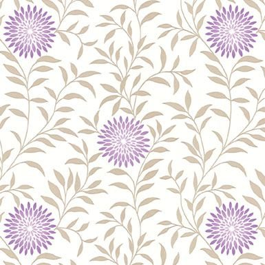 Papel de Parede com Flores da Coleção Artdecor2 80015- Importado/vinílico 15mts