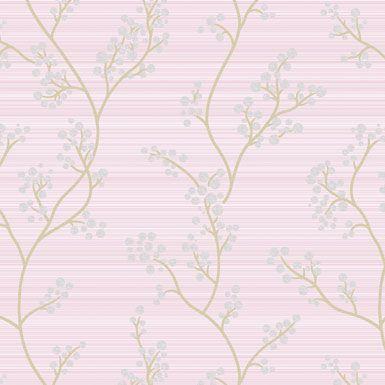 Papel de Parede com ramos e folhas da coleção Artdecor2 80922 Importado Vinilico 15 mts