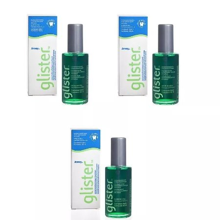 Kit 3 Enxaguante Bucal Glister 50ml- Amway Super Concentrado