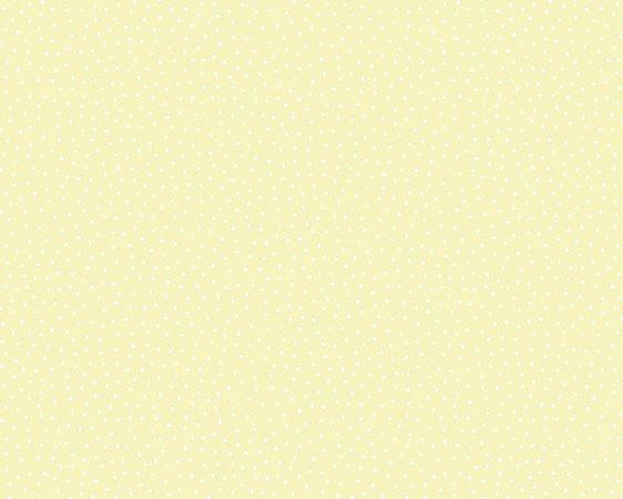 Papel de Parede Poá  amarelo e branco da Coleção ESPRIT KIDS 3 - Importado base TNT