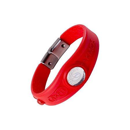 Pulseira Bracelete Akmos I9 Magnetica Equilibrio Bem Estar - Red Fire
