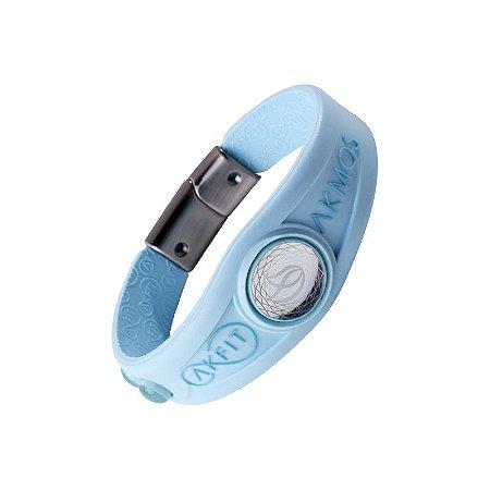 Pulseira Bracelete Akmos I9 Magnetica Equilibrio Bem Estar - Sky