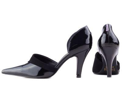 Sapato Scarpin  Preto Semi  Aberto