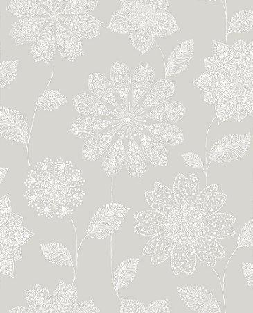 Papel De Parede Twist 10x0.52m Floral-Henna Bege