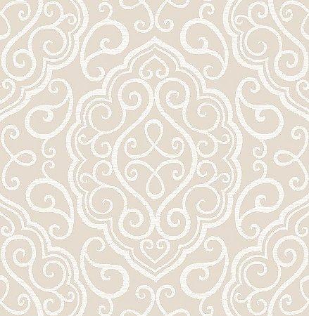 Papel De Parede Twist 10x0.52m Ornamento Bege