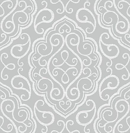 Papel De Parede Twist 10x0.52m Ornamento Cinza Medio