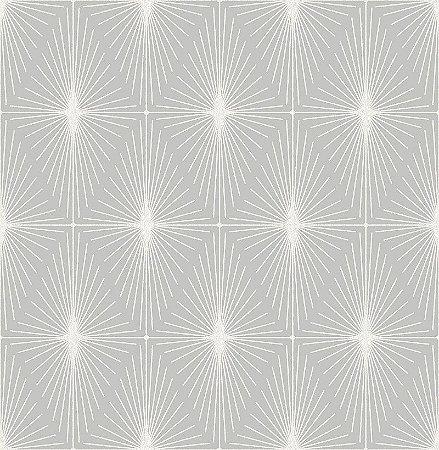 Papel De Parede Twist 10x0.52m Geometrico Branco