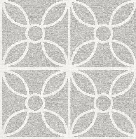 Papel De Parede Twist 10x0.52m Geometrico Cinza Medio Com fundo Branco