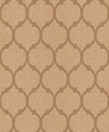 Papel De Parede Rumba 10x0.53m Geometrico Marrom