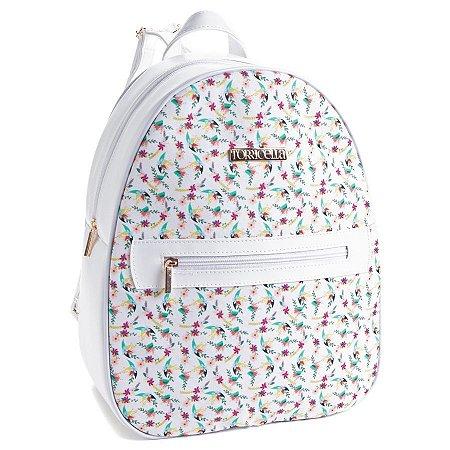 Bolsa mochila com Flores Coloridas