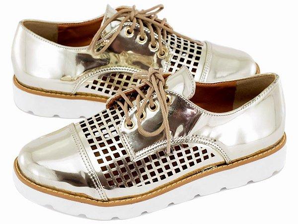 Sapato Oxford Ouro Light