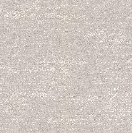 Papel De Parede Grace 10x0.53m Lettering Branco/Cinza 401301028