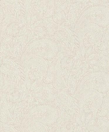Papel De Parede Grace 10x0.53m Arabesco Branco/Bege 401301171