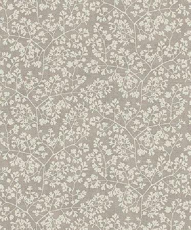 Papel De Parede Grace 10x0.53m Folhas Branco/Cinza 401301052