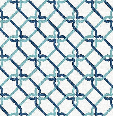 Papel De Parede Energy 10x0.52m Geom/Rabisco Azul