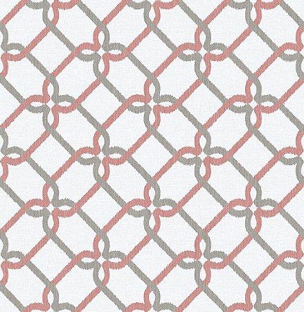 Papel De Parede Energy 10x0.52m Geom/Rabisco Cinza/Vermelho