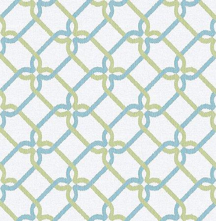 Papel De Parede Energy 10x0.52m Geom/Rabisco Verde/Azul