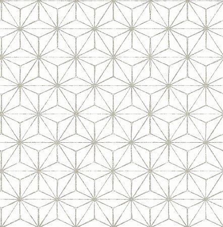 Papel De Parede Energy 10x0.52m Geometrico/Linhas Branco/Cinza