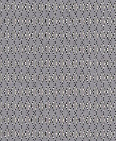 Papel De Parede Joy 10x0.53m Geometrico Cinza/Bege
