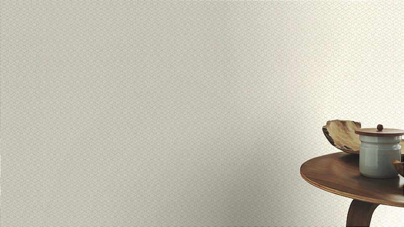 Papel De Parede Joy 10x0.53m Geometrico Branco/Acetinado
