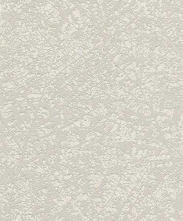 Papel De Parede Joy 10x0.53m Testura Folha Bege/Creme