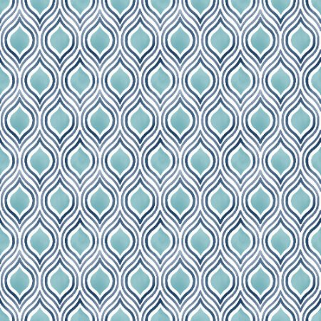 Papel De Parede Freedom 10x0.52m Padronagem Pluma Azul