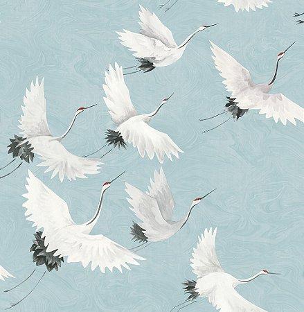 Papel De Parede Freedom 10x0.52m Revoada Azul/Branco