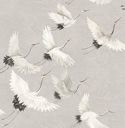 Papel De Parede Freedom 10x0.52m Revoada Cinza/Branco