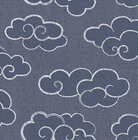 Papel De Parede Freedom 10x0.52m Nuvem Azul