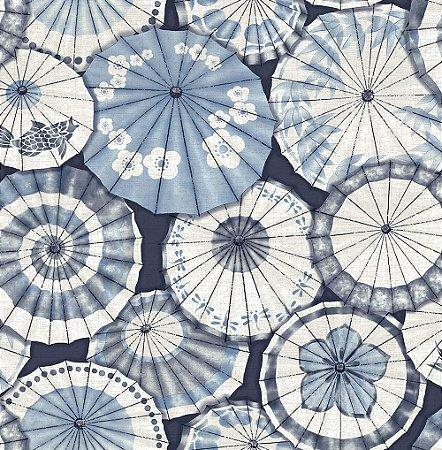 Papel De Parede Freedom 10x0.52m Guarda-Sol Azul