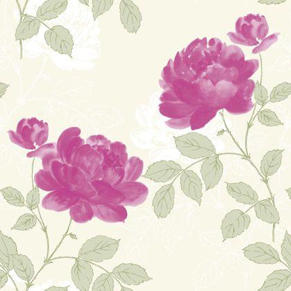 Papel De Parede Samba 53cmx10m Floral Roxo