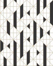 Papel De Parede Pop 10x0.52m Geometrico Preto/Ouro