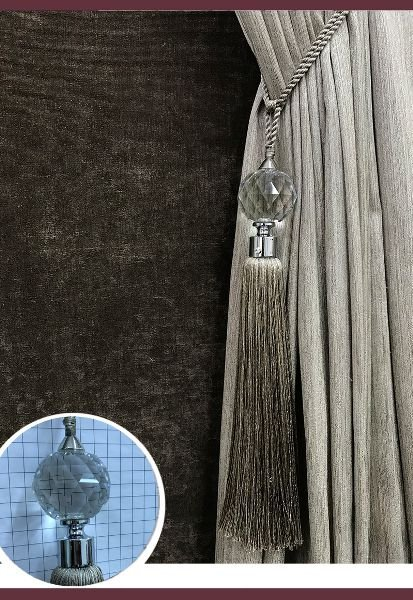 Abraçadeira p/ Cortina Pingente Luba Cristal 111
