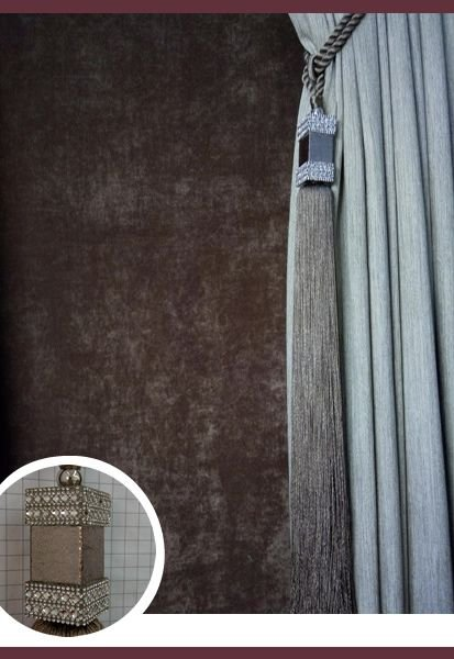 Abraçadeira p/ Cortina Pingente Luba Cristal 106