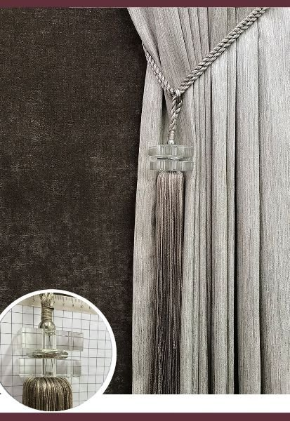 Abraçadeira p/ Cortina Pingente Luba Cristal 01