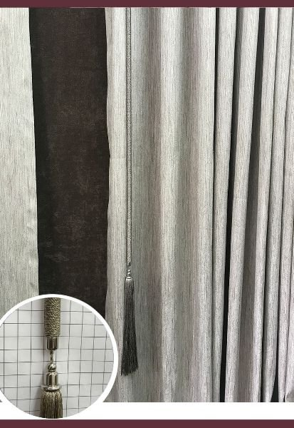 Abraçadeira p/ Cortina Pingente Luba Haste 10 com Pingente