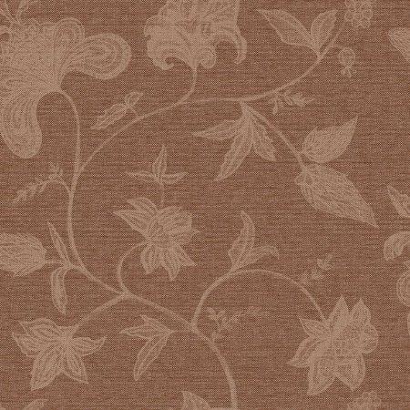 Papel De Parede Natural Floral Palha Marrom Escuro 1409